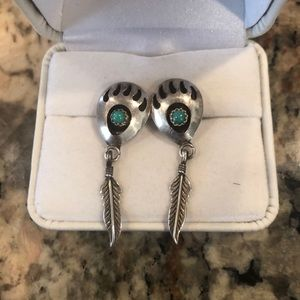 Jewelry - Silver Bear Paw Earrings